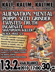 ALIENATION MENTAL, POPPY SEED GRINDER, TWISTED TRUTH, SHAMPOON KILLER, INCARNATE, BLACK HOLE 23