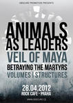 Animals As Leaders, Veil Of Maya, Betraying The Martyrs, Structures, Volumes - Praha