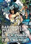 BARONESS, SAVIOURS, WEEDEATER, BLACK COBRA, DRAGGED INTO SILENCE