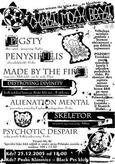 CHRIST MOSH BEAST #5 > Psychotic Despair, Destroying Divinity, MadeByTheFire, Pigsty, Alienation Mental, Penisifilis, Skeletor