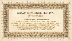 Chaos Descends festival 2018