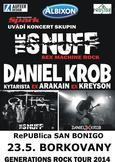 Albixon Generations Tour 2014 - dvojkoncerty THE SNUFF a DANIEL KROB